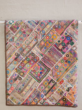 Applique Patchwork Hanging - Taupe