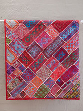 Applique Patchwork Hanging - Red