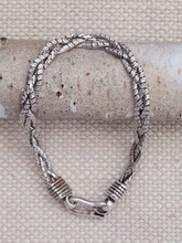 Plaited Snake Chain Bracelet