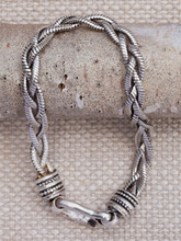 Medium Braided Silver Bracelet