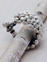 Sterling Silver Lozenge Cuff Bracelet