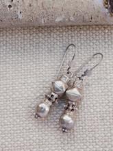 Nepalese Silver Tribal Earrings