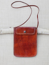 Brown Leather Travel Pouch