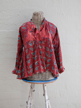Red and Blue Paisley Keriya Jacket