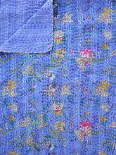 Lilac Floral Bedspread