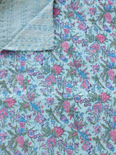 Pistachio Floral Bedspread