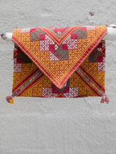 Vintage Red and Yellow Dowry Bag