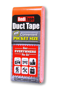 Fluorescent Orange Pocket Size Duct Tape