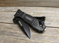 Personalized Tactical Rescue Pocket Knife With Clip Emergency Knife