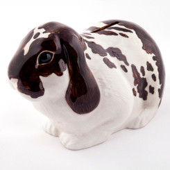 Lop Eared Rabbit Money Box brown/white