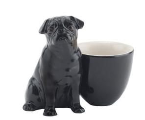 Pug Egg Cup Black