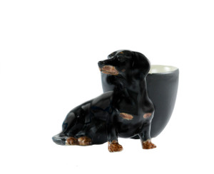 Dachshund Egg Cup Black and Tan