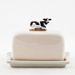 Friesian Cow Butter Dish