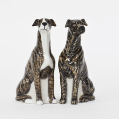 Greyhound Brindle Salt and Pepper
