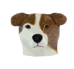 Smooth Jack Russell Face egg Cup Br/WH