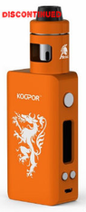 The SMOKtech Koopor Knight and Helmet Full Kit combines the new Koopor Mini 2, which features a single high amperage battery powered (sold separately) 80W and temperature control chipset, with the Helmet Sub-Ohm Tank, a securely locking tank with adjustable top airflow and a well balanced coil family. The Koopor Mini 2 platform features the latest generation single 18650 battery driven SMOKtech chipset, with a 1 to 80W power output range alongside temperature controlled output that supports Ni200 Nickel, Stainless Steel, and Titanium heating elements. SMOKtech has implemented a variety of supplemental output options that allow users to fine tune output to an even finer degree, with a five setting output selection that directly affects ramp time and output for either power or temperature output, single coil and dual coil adjustment for temperature controlled output, and adjustable initial resistance settings. A four line displayed 0.96 inch OLED Screen neatly organizes essential output data and feedback. The included Helmet Sub-Ohm Tank features a Safety Top Lock design which requires depression of the top tank section to disassemble, making it secure to store and carry. The Helmet has a tank capacity of 2 milliliters, and utilizes the new Helmet CLP coil structure which is attached directly to the top tank chassis which allows users to directly pour to fill the tank capacity. The CLP Coil features a Clapton coil configuration and Japanese Organic Cotton, with the 0.6 ohm coil rated for 25 to 80W and the 0.4 ohm coil rated for 20 to 45W, perfect for the range of the Koopor Mini 2's output. With a compact and capable device paired with a convenient and secure Sub-Ohm Tank, the SMOKtech Koopor Knight 80W TC Full Kit is an affordable starter kit with great versatility.