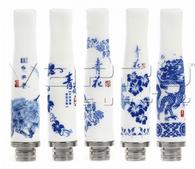 Ceramic China Blue Drip Tip 510