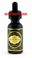 Cosmic Fog Lost Fog Collection - Streak - Hand-Picked mountain grown Gaviota strawberries blended with just enough soft creamy Greek Yogurt. The perfect balance of two of nature;s finest treats combined in a vape that is sweet, savory and creamy.