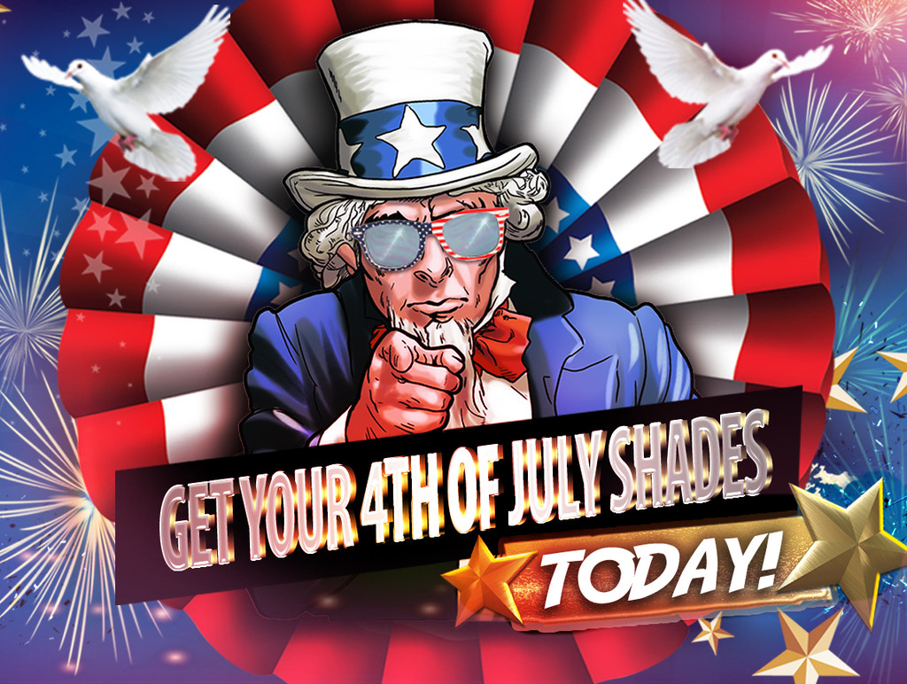 Celebrate Independence Day with American Flag Sunglasses!