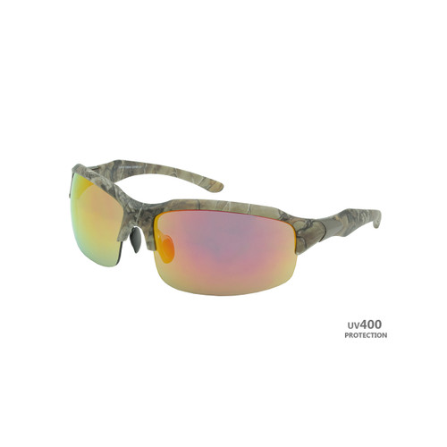 Sport Sunglasses Real Tree Camo Frame Copper Lens Gunmetal on Temple RXS07RT