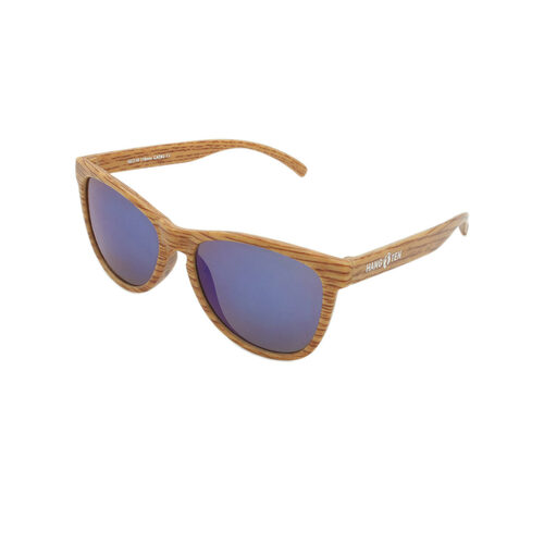 Hangten Kids Sunglasses Cove Collection Wood Frame Wood Temple Hangten Logo Wholesale HTK09C