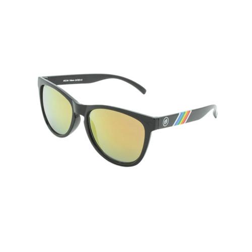 Hangten Kids Sunglasses Cove Collection Shiny Black Yellow Revo Lens Hangten Icon Logo Wholesale HTK09A