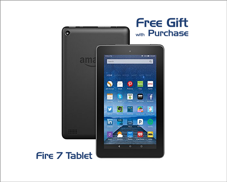 Free Amazon Fire 7 Tablet With A Purchase