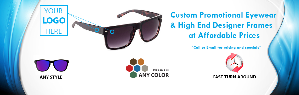 Custom Logo Sunglasses by Shark Eyes