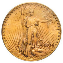 Buy 1914-S $20 Saint-Gaudens Gold Double Eagle MS60 from Park Avenue Rarities and save!