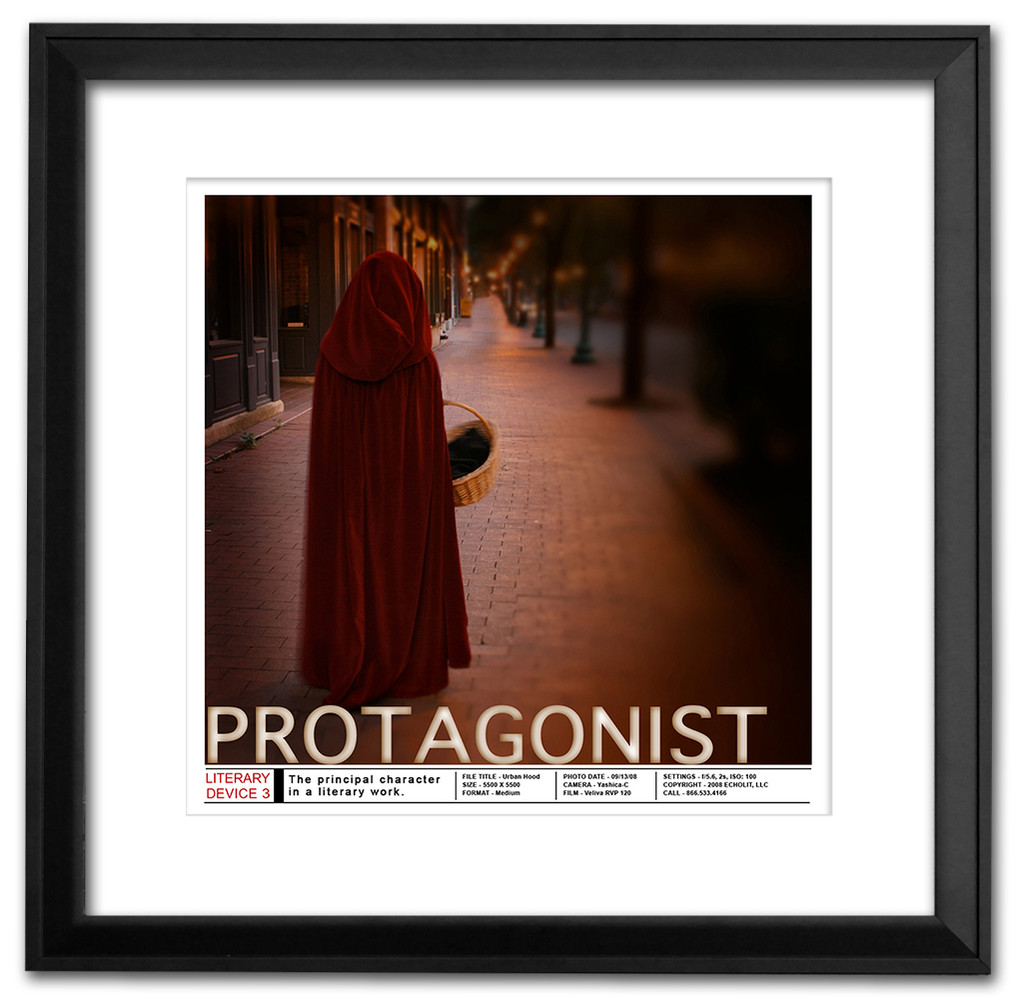 Protagonist Literary Poster