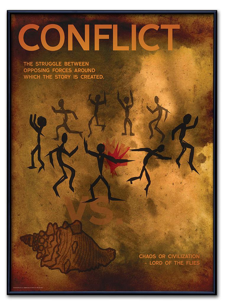Conflict Poster Framed