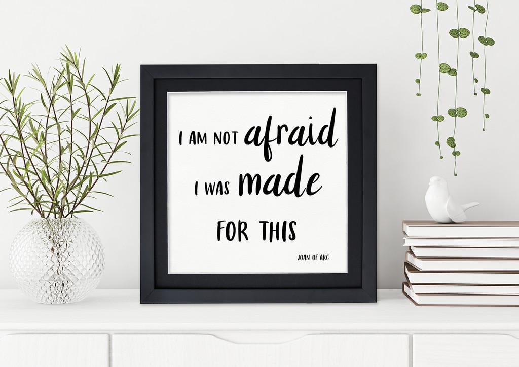 Made for This - Joan of Arc Spiritual Fine Art Print For Dorm, Nursery, or Home.