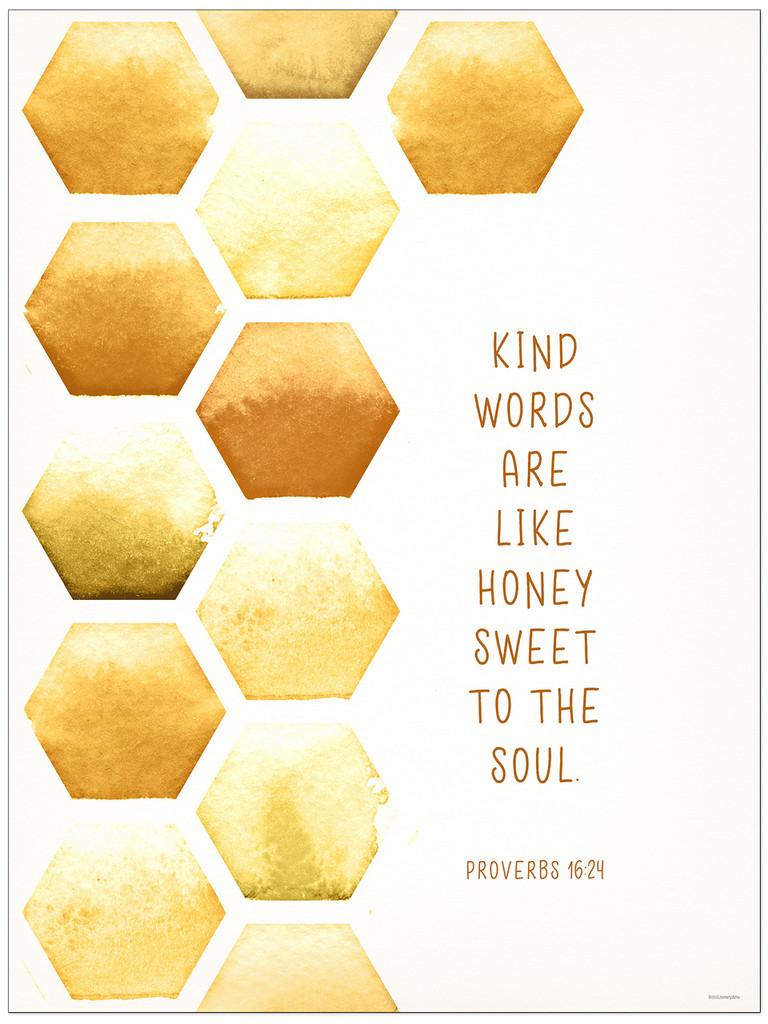 Kind Words - Inspirational Fine Art Print Verse for Dorm, Nursery, or Bedroom.