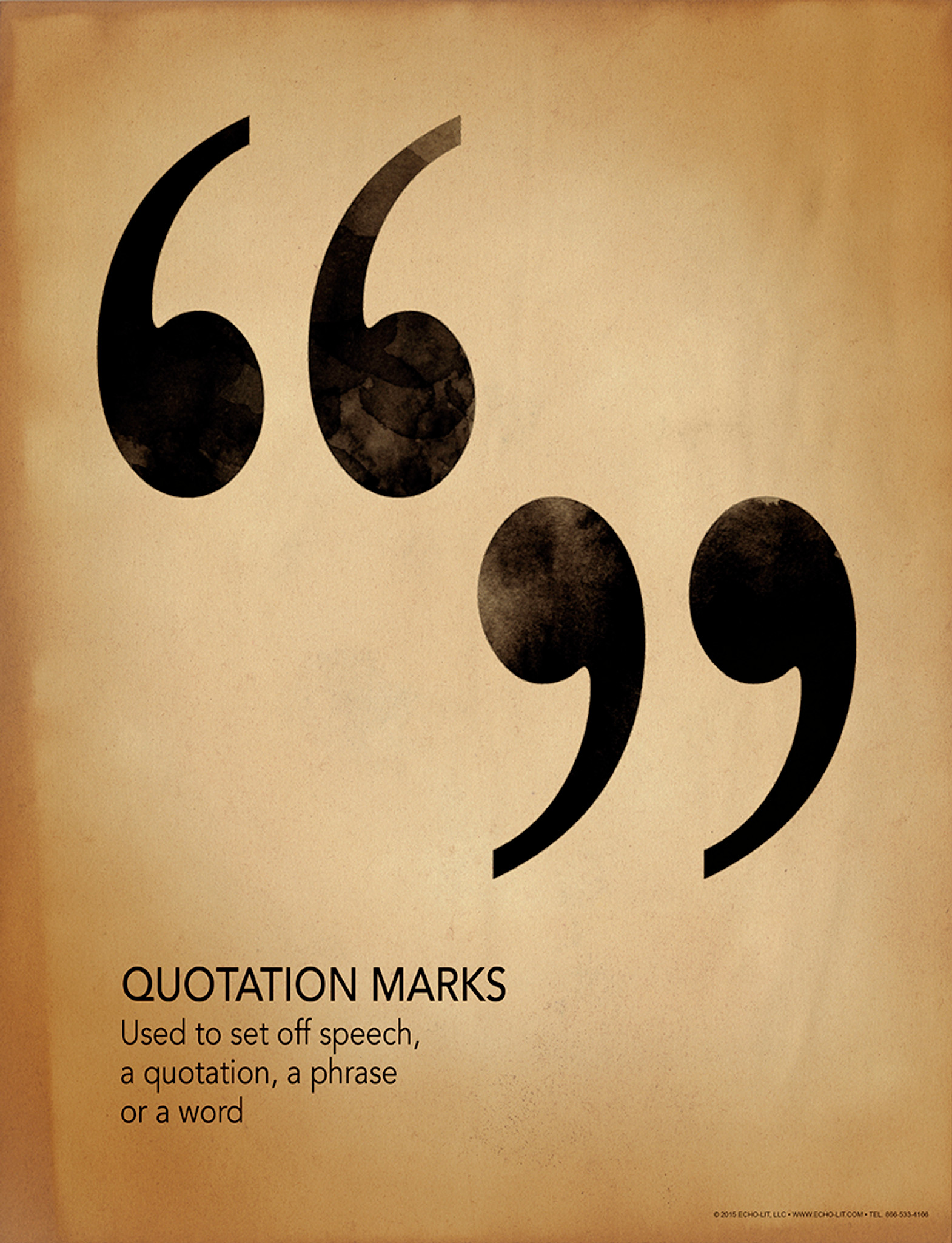 quote marks grammar  punctuation and writing poster