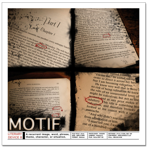 Motif Literary Poster