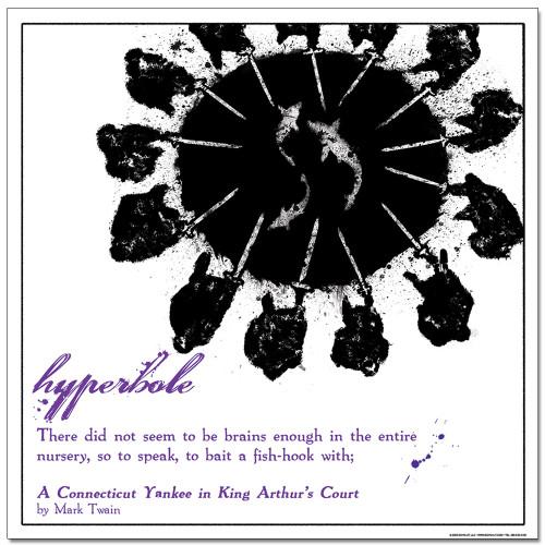 Hyperbole Literary Poster
