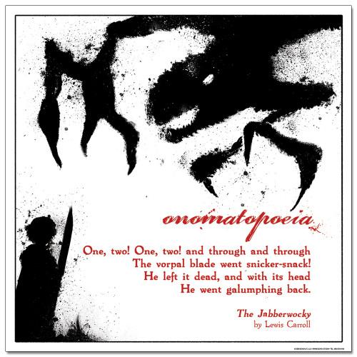 Onomatopoeia Literary Poster