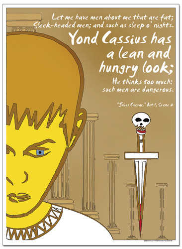 Lean and Hungry, Caesar Literary Poster