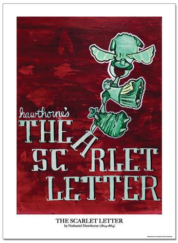 Scarlet Letter Literary Poster