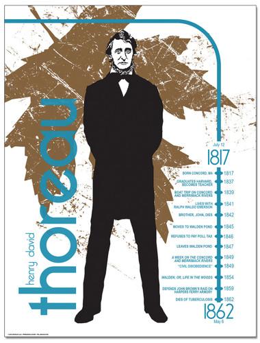 Henry David Thoreau Literary Timeline Poster