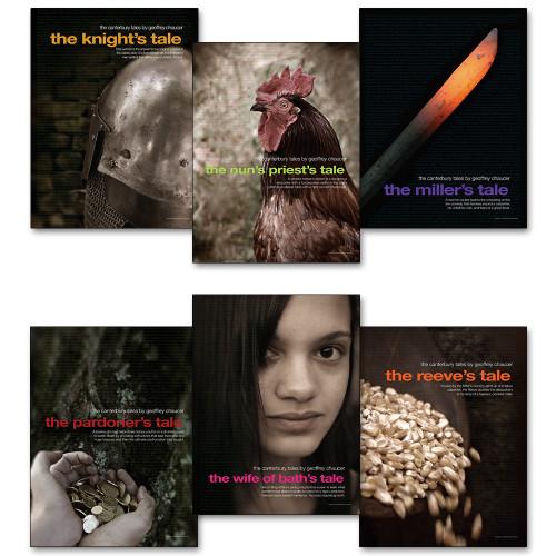 Canterbury Tales Literary Poster Set