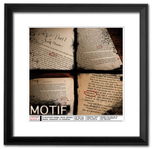Motif Classoom Literary Poster