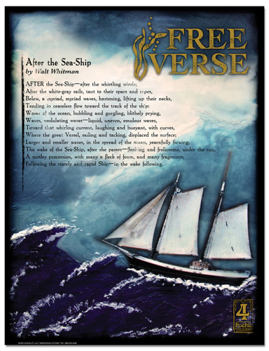 Free Verse Literary Poster