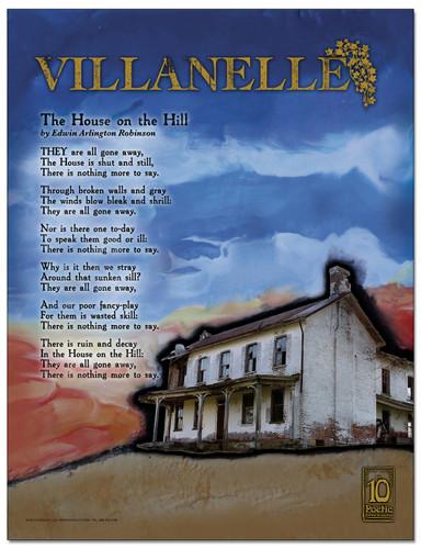 Villanelle Literary Poster