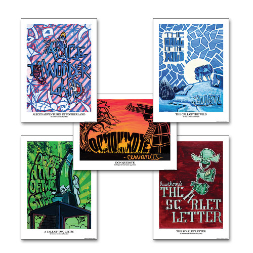 Graffiti Classics Literary Poster set
