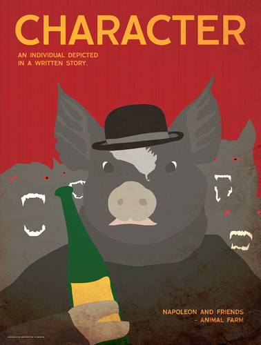Character - Animal Farm - Literary Poster