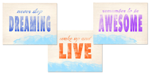 Dream, Live and Be Awesome Inspirational Posters