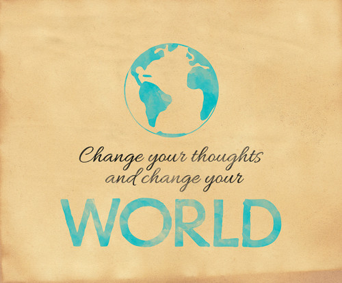 Change Your World Inspirational Poster