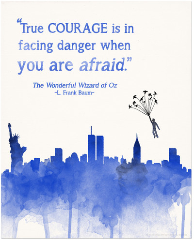 True Courage Children's Wizard of Oz Literature Inspirational Quote Poster