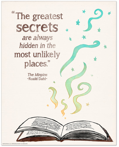 The Greatest Secrets Children's Literature Inspirational Quote Poster